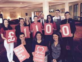 Hallmark Hotel staff fundraise for BHF July 2017